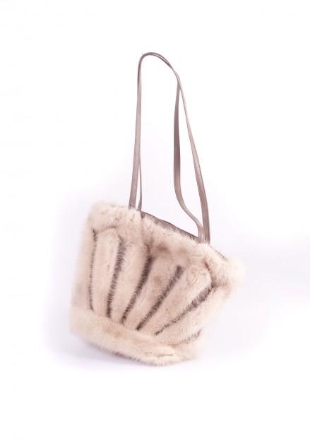 Сумка из меха норки комбинированная с кожей (модель 147)