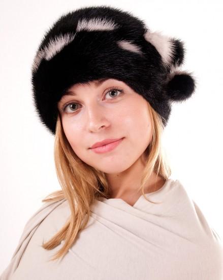 Шляпа цельно-меховая из меха норки (модель 260)