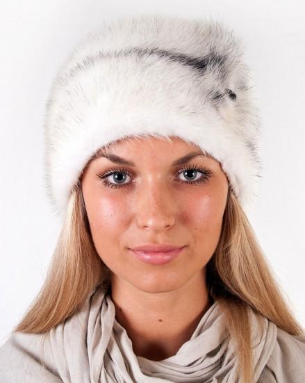 Шляпа цельно-меховая из меха норки с перфорацией с двух сторон (модель 345)