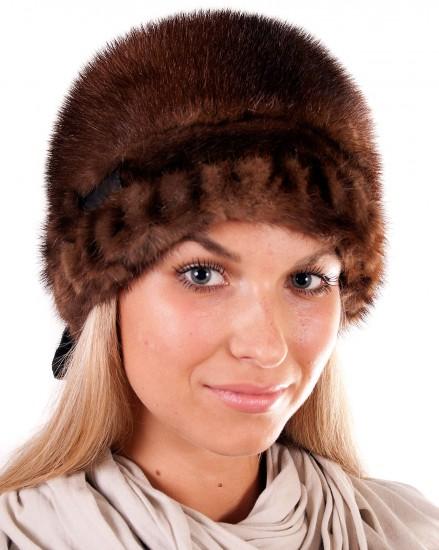 Шляпа цельно-меховая из меха норки (модель 401)