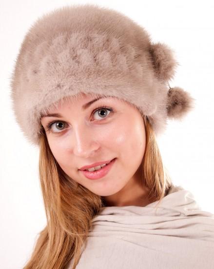 Шляпа цельно-меховая из меха норки (модель 287)