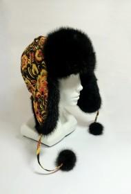 Изображение Шапка-ушанка комб. с норкой (модель 1)