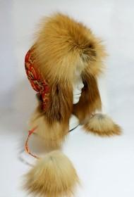 Изображение Шапка-ушанка  комб. с лисой (модель 1)